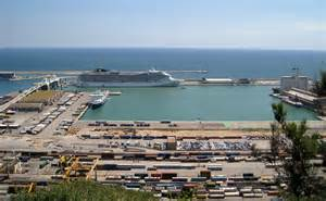 barcelona boasts a beautiful port which greets ships