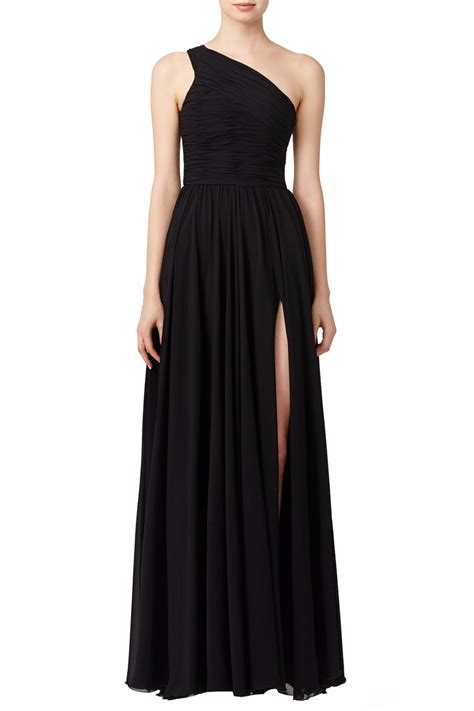 2017 one shoulder long bridesmaid dresses