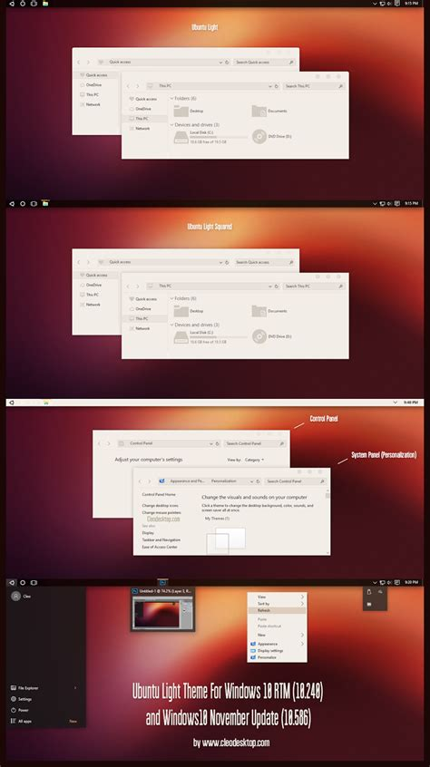 ubuntu themes for windows 8 1 ubuntu light theme for windows10 november update 10586
