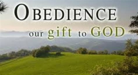 how to a to be obedient should we be obedient just to obtain blessings