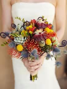 exotic fall wedding bouquet ideas