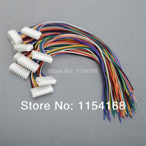Connector Xh 2 Pin Untuk Kabel lipo battery parts 10 pcs 8s jst xh connector balance wire cable 9 pin 9p 24awg cable