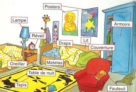la chambre des je m amuse en fran 231 ais vocabulaire ma chambre