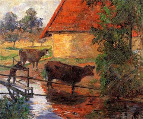 paint places paul gauguin watering place painting anysize 50 off