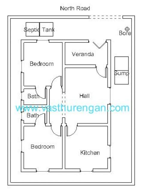 vastu floor plans north facing single bedroom house layouts india in north facing joy