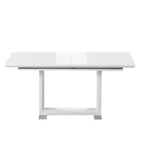 white extending dining table beckley 6 to 8 seater white gloss extending dining table