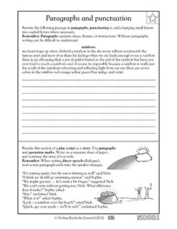 4th grade 5th grade writing worksheets punctuating a