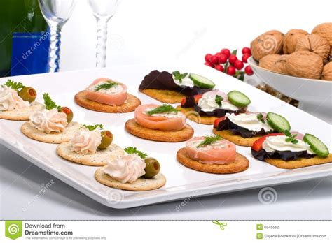 fresh canapes tray of fresh canapes stock photography image 6545562