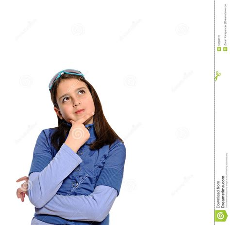 stylish quates poses girlz cute girl in thinking pose stock image image of beauty