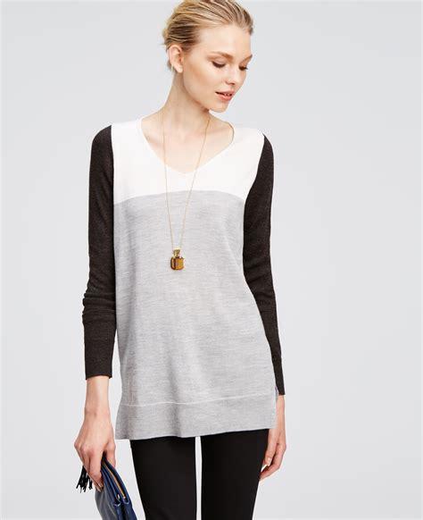 Galery Tunik colorblock tunic sweater fashion skirts