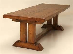 Trestle Dining Table With Leaf Oak Trestle Dining Table With Two Leaves For Sale At 1stdibs