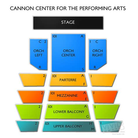 cannon center for the performing arts seating chart