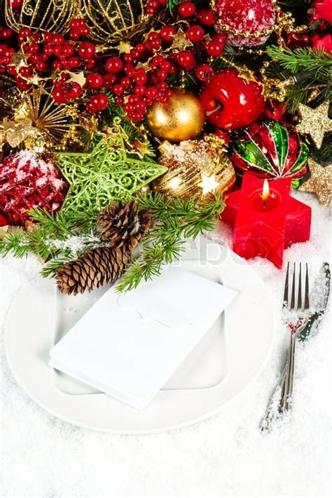best place to get christmas table candle light dinner table stock photo colourbox