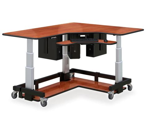 desk stand l shaped sit and stand desk afcindustries