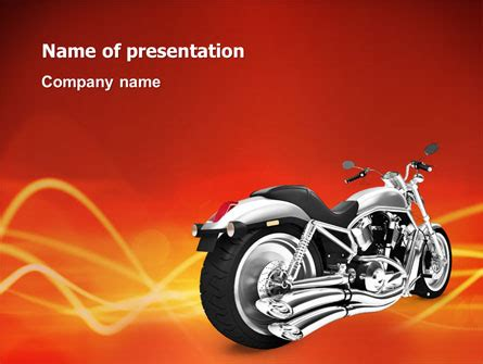 Bike Presentation Template For Powerpoint And Keynote Motorcycle Ppt Templates Free