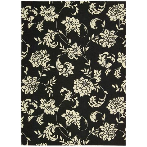 10 X 17 Outdoor Rug - nourison home and garden bouquet black 10 ft x 13 ft