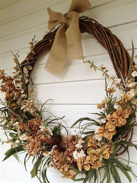 large rustic grapevine wreath floral decorated