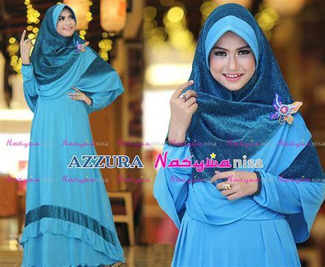 Baju Koko Al Zahra azzura biru tosca baju muslim gamis modern