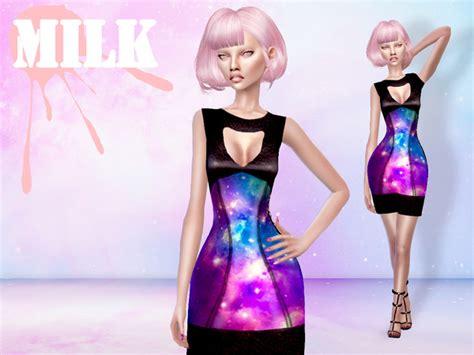 0902 Dress Ribbon Fit L Cc m i l k galaxy dress