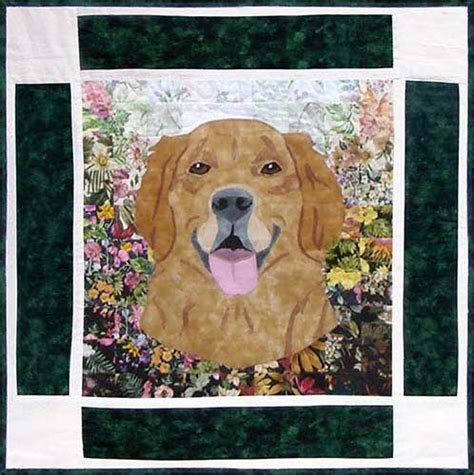 golden retriever applique pattern s kennel block 8 golden retriever whims