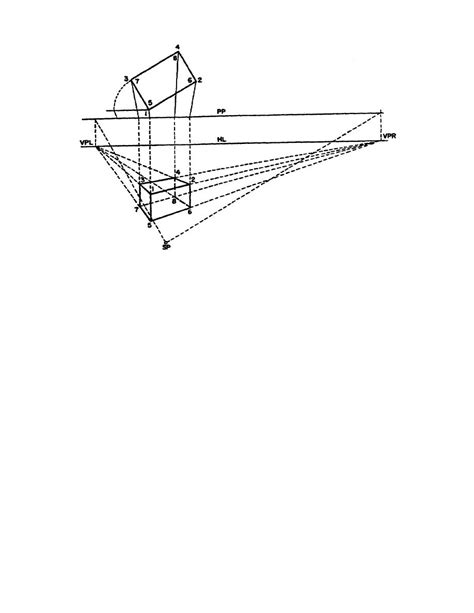 Drawing 2 Point Perspective From Plan by Figure 2 4 Two Point Perspective Drawing Made Without