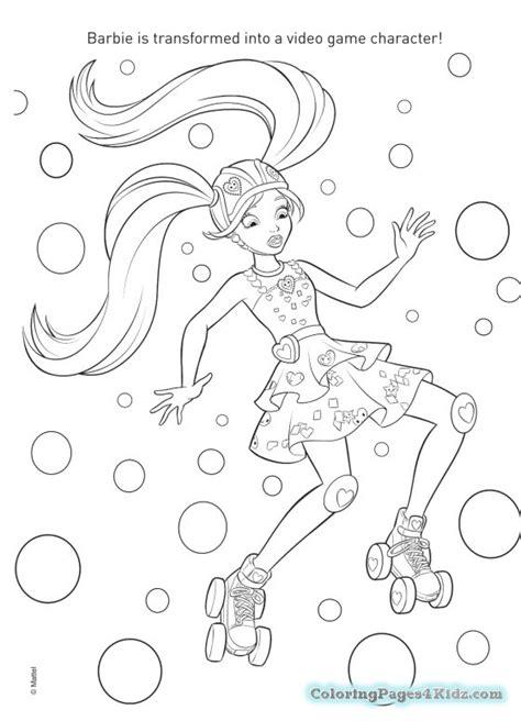 barbie coloring pages games printable barbie video game hero coloring pages coloring