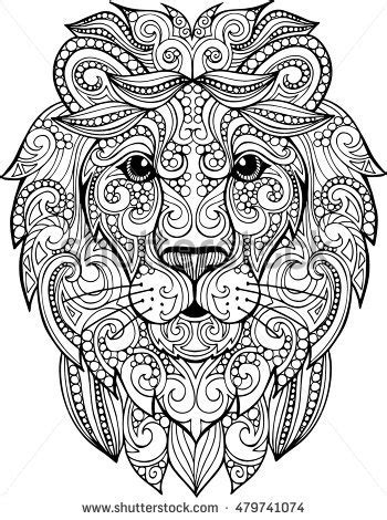 zentangle lion pattern lion zentangle patterns www pixshark com images