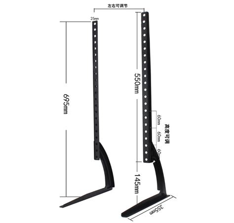 Tv Bracket 400 X 400 Pitch 7 0cm Wall Distance For 26 55 Inch Tv tv bracket stand 1 5mm thick 800 x 400 pitch for 32 65 inch tv black jakartanotebook