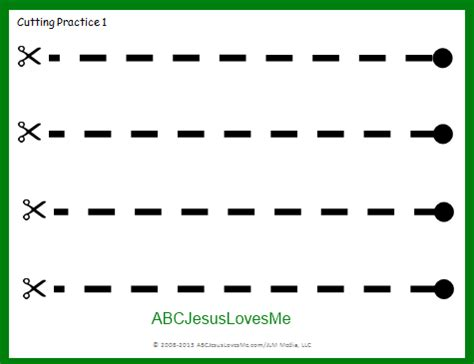 Abcjesuslovesme Worksheets by Using Scissors Learning How To Cut Abc Jesus Me