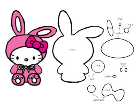hello cut out template bunny hello template pattern uie craft