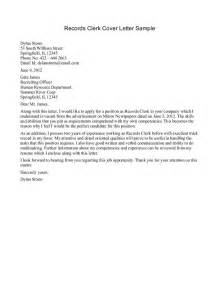 clerical cover letter template sle application for