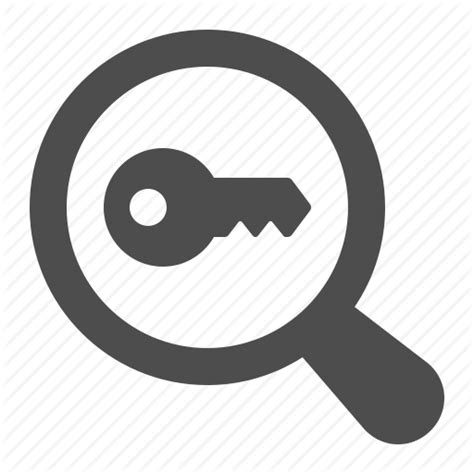 Password Lookup Magnifying Glass Icon Png