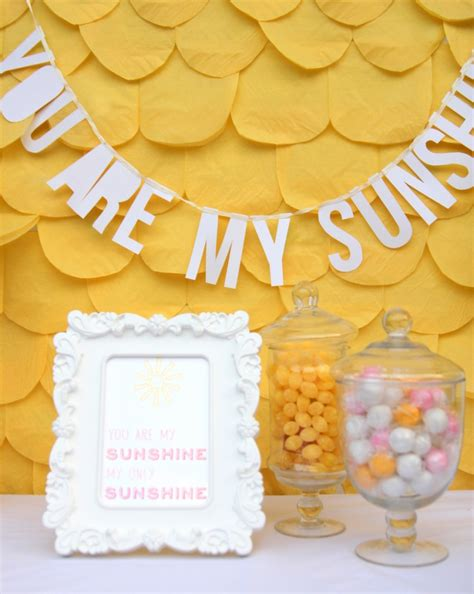 Best Decorated Homes You Are My Sunshine Baby Shower And Some Cheerful Baby