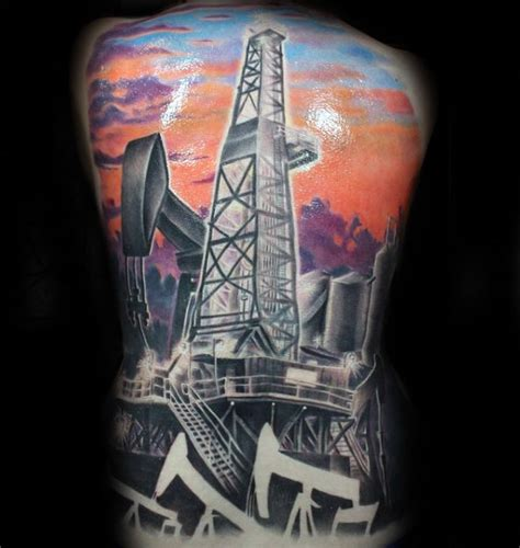 oilfield tattoos 40 oilfield tattoos for worker ink design ideas