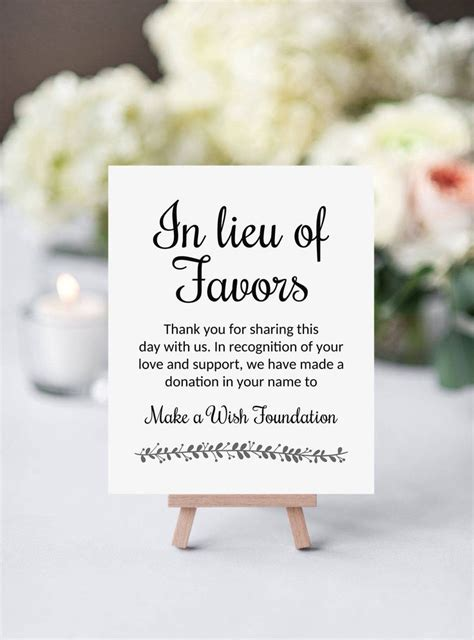 Wedding Favors Donation To Charity by Donating To Your Favorite Charity In Honor Of Your Wedding