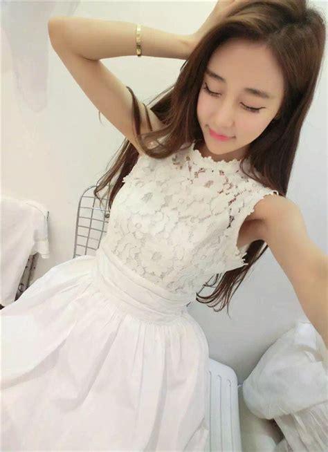 Renda Karetelastis Ukuran 45 Cm dress lengan buntung renda putih 2016 jual model