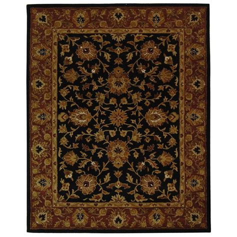 Safavieh Heritage Rug by Safavieh Heritage Black 6 Ft X 9 Ft Area Rug Hg112a