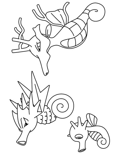 pokemon coloring pages of horsea horsea pokemon coloring pages images pokemon images
