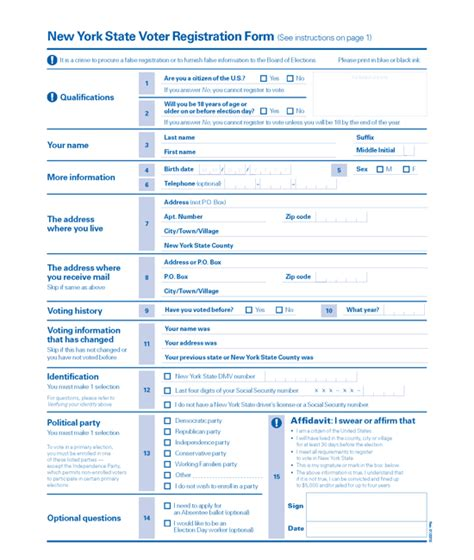 form design ny voter registration forms in pennsylvania and others