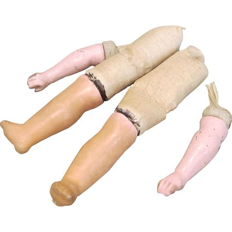 composition doll parts for sale wax composition doll parts arms and legs antique