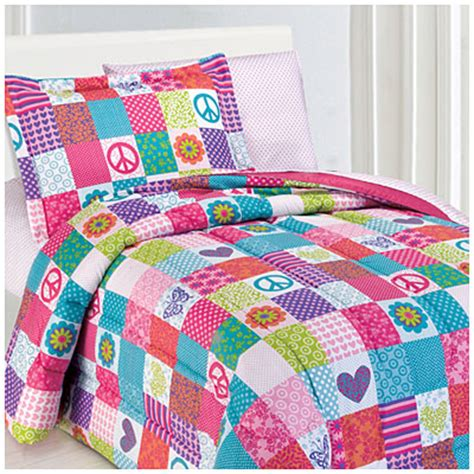 big lots bed in a bag view kids collection twin 5 piece bed in a bag 174 comforter