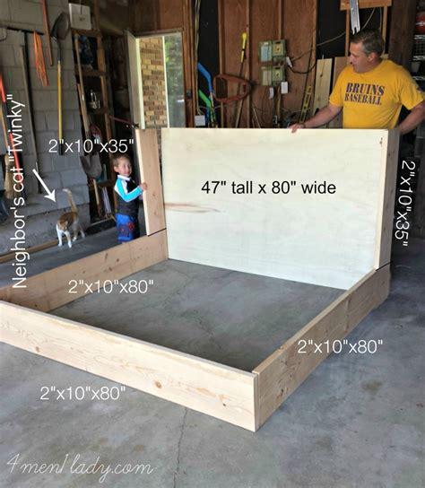 diy upholstered bed diy upholstered wing bed