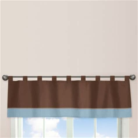 Blue And Brown Window Valance Buy Blue Brown Valance From Bed Bath Beyond