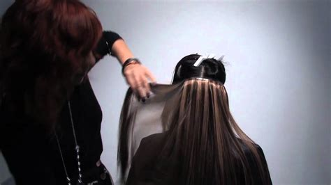 the hair extensions expo how to balayage using showpony tape or skin weft hair
