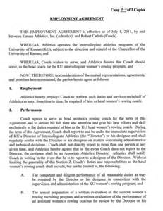 football contract template kansas athletics coaches and administrators contracts and