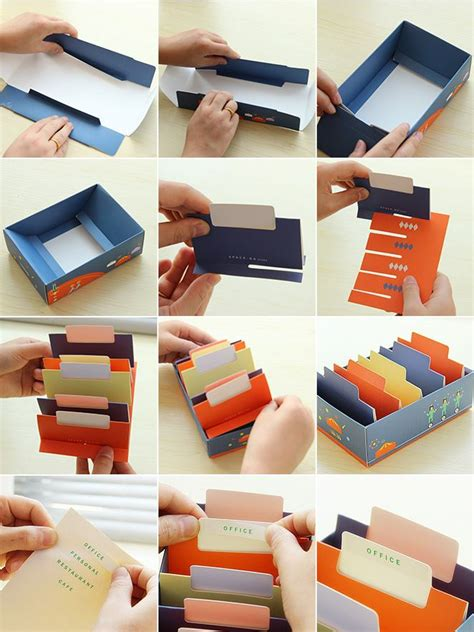 Handmade Company - easy diy business card holder ideas