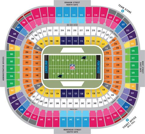 bank of america stadium seating chart carolina panthers seating chart bank of america stadium