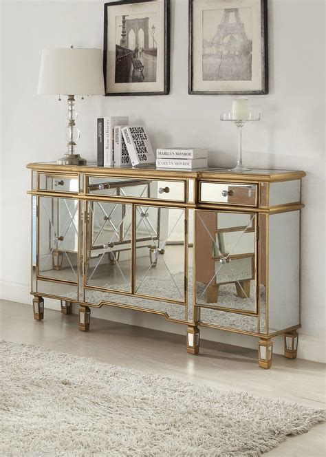 gold mirrored bedroom furniture 427 304 gold mirrored buffet
