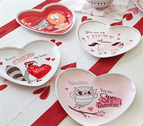 valentines sets s day plate sets pottery barn
