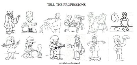 coloring pages of jobs and professions free coloring pages of occupations worksheet